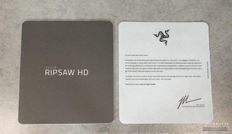 Razer Ripsaw HD - Documentación