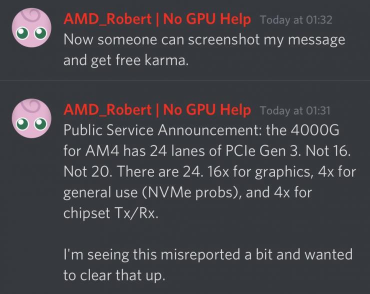 AMD Ryzen 4000G lineas PCIe 740x588 0