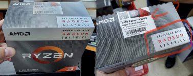 Por alguna extraña razón, AMD vende sus Ryzen 5 3600 con el embalaje de las APUs Ryzen 3 3200G