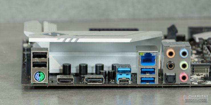 ASRock H470 Steel Legend - Conectores traseros