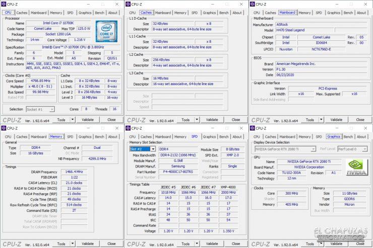 ASRock H470 Steel Legend - CPU-Z