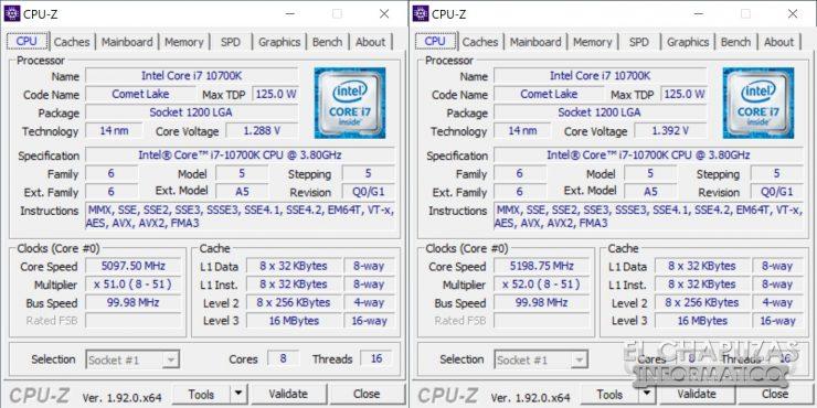 ASRock Z490 PG Velocita - CPU-Z OC