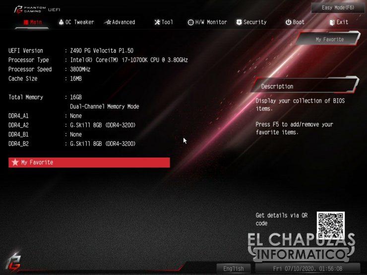 ASRock Z490 PG Velocita - BIOS 2