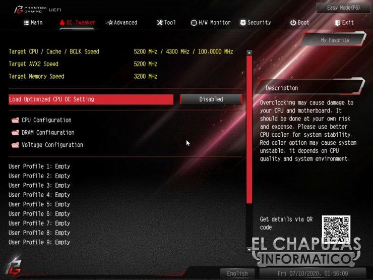 ASRock Z490 PG Velocita - BIOS 3