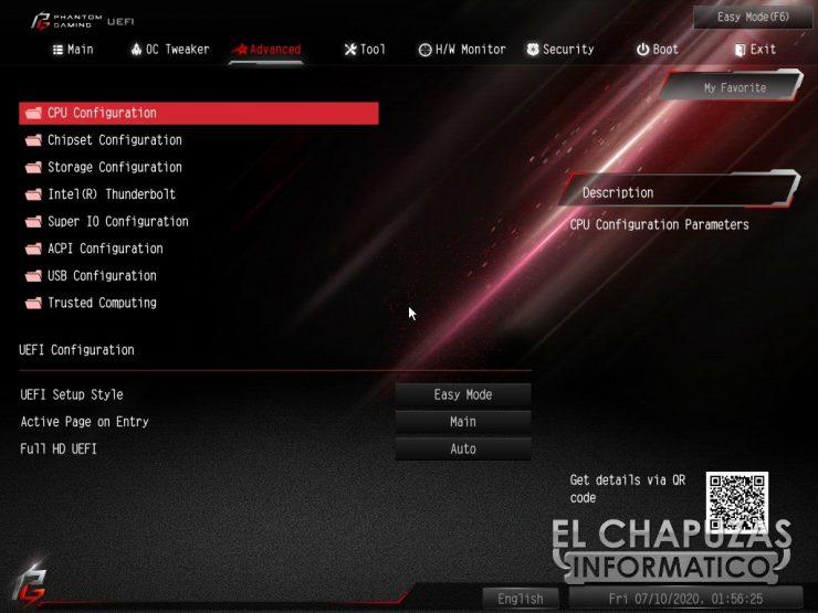 ASRock Z490 PG Velocita - BIOS 7