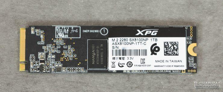 Adata XPG SX8100 - Vista trasera