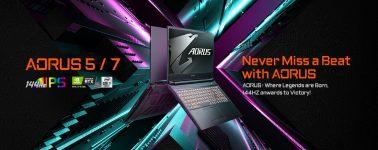 Gigabyte lanza sus nuevos portátiles Aorus 7 y Aorus 5 con paneles @ 144 Hz y CPUs Core i7-10750H