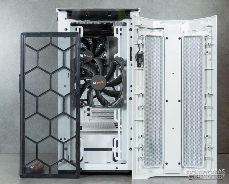Be Quiet! Pure Base 500DX - Interior - Lado frontal abierto