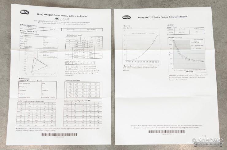 BenQ SW321C - Calibración
