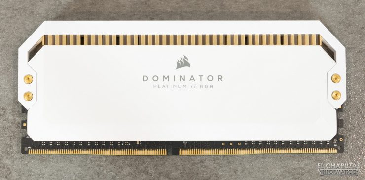 Corsair Dominator Platinum RGB White - Vista frontal