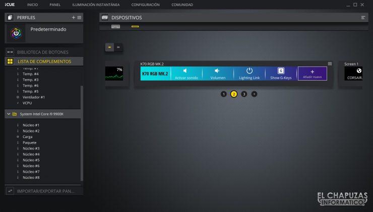Corsair iCUE Nexus - Pruebas 2