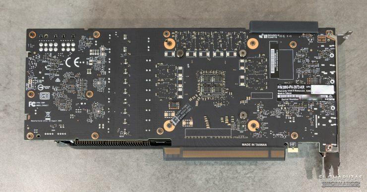 EVGA GeForce RTX 2070 SUPER KO - Vista PCB trasera