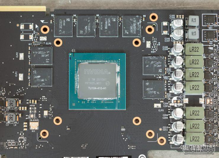 EVGA GeForce RTX 2070 SUPER KO - Núcleo, memorias y VRM en detalle