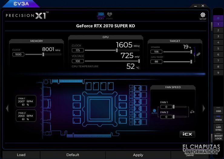 EVGA GeForce RTX 2070 SUPER KO - Precision X1