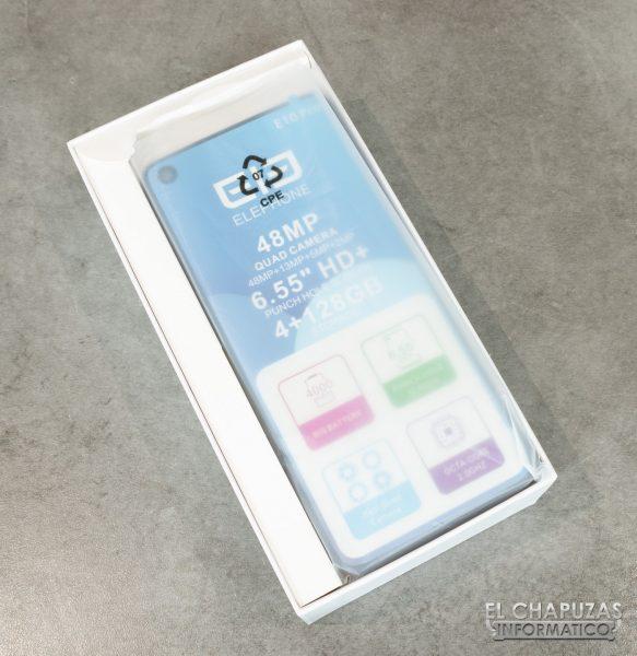 Elephone E10 Pro - Embalaje interior