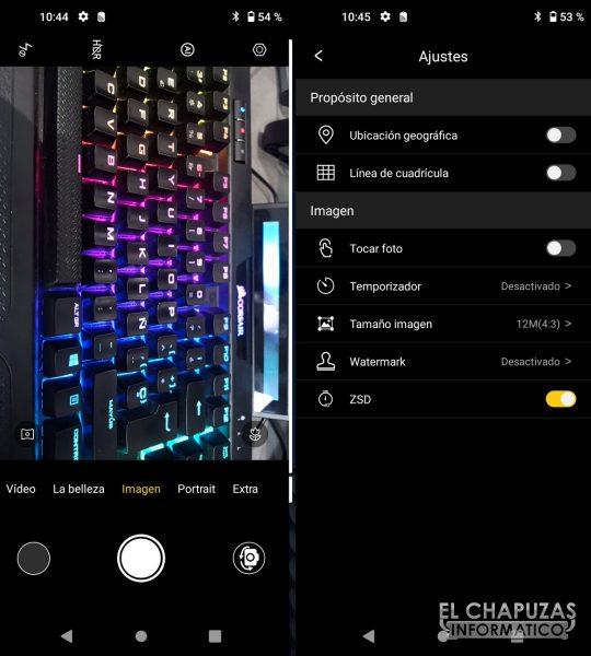 Elephone E10 Pro - Cámaras software