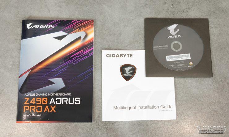 Gigabyte Z490 Aorus Pro AX - Documentación