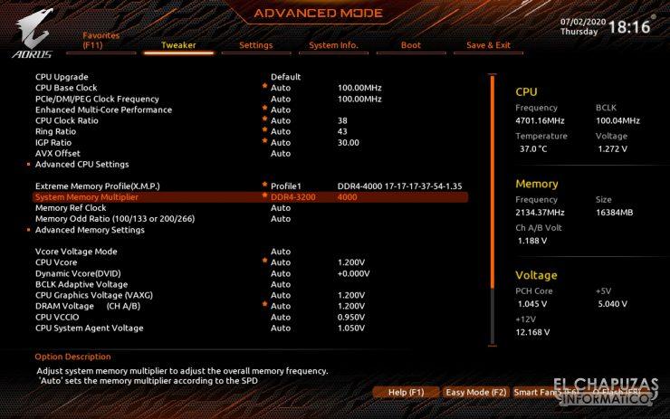 Gigabyte Z490 Aorus Pro AX - BIOS 2