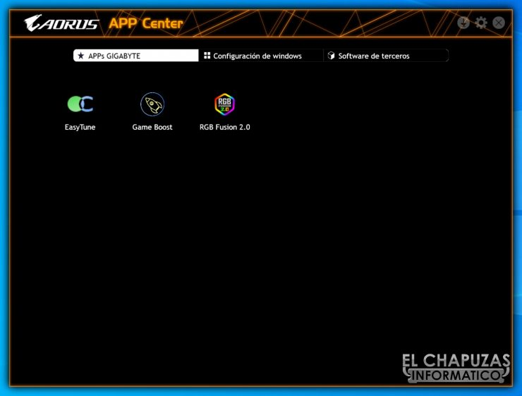 Gigabyte Z490 Aorus Pro AX - APP Center