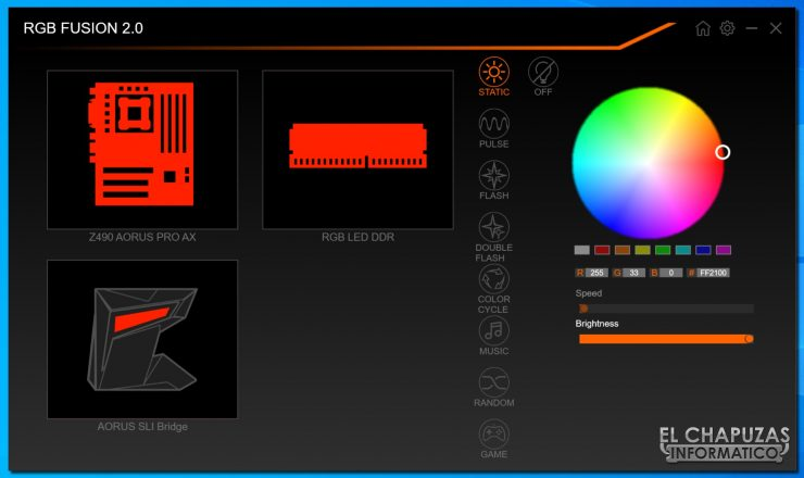Gigabyte Z490 Aorus Pro AX - RGB Fusion 2.0