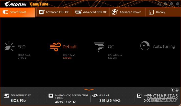 Gigabyte Z490 Aorus Pro AX - Easy Tune