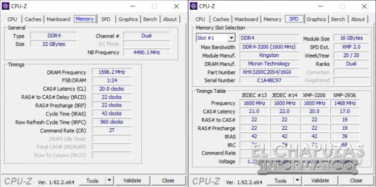 HyperX Impact - CPU-Z