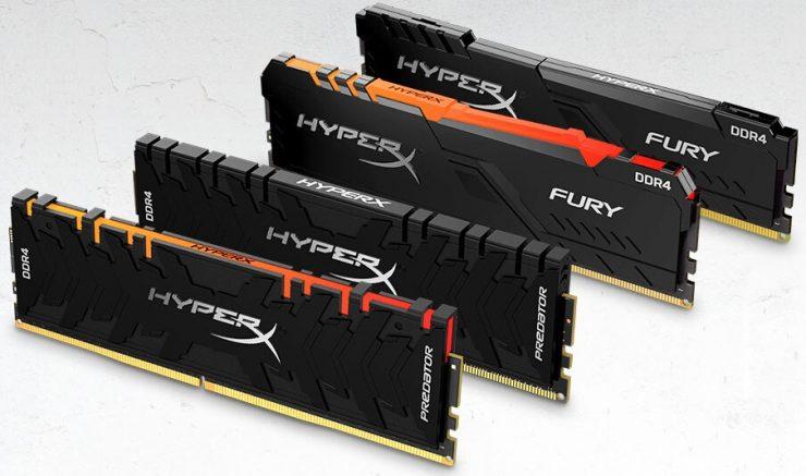 HyperX Predator DDR4 e HyperX FURY DDR4