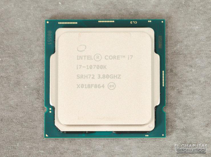 Intel Core i7-10700K - Vista superior