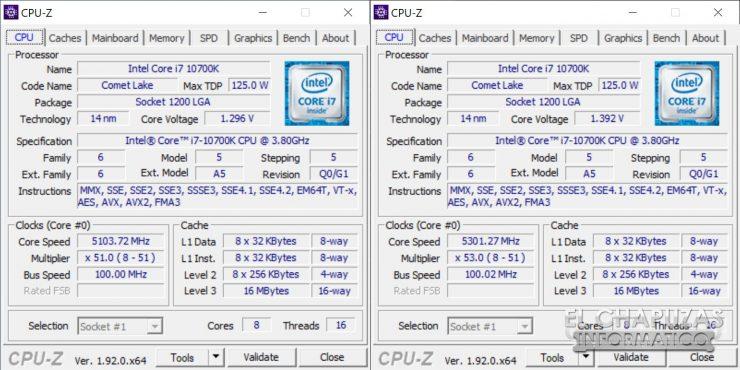Intel Core i7-10700K - OC