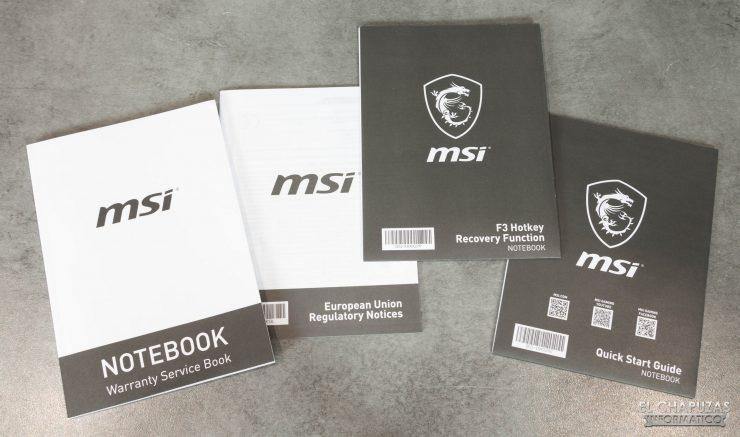 MSI GE66 Raider (10SGS) - Documentación