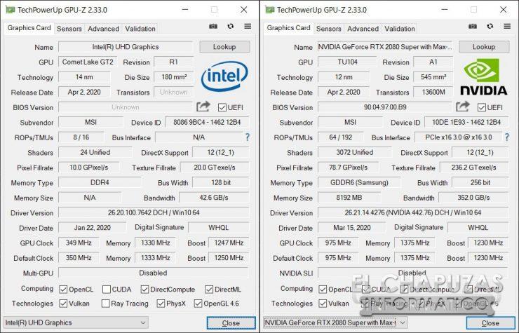 MSI GE66 Raider (10SGS) - GPU-Z