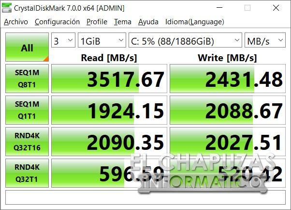 MSI GE66 Raider (10SGS) - CrystalDiskMark