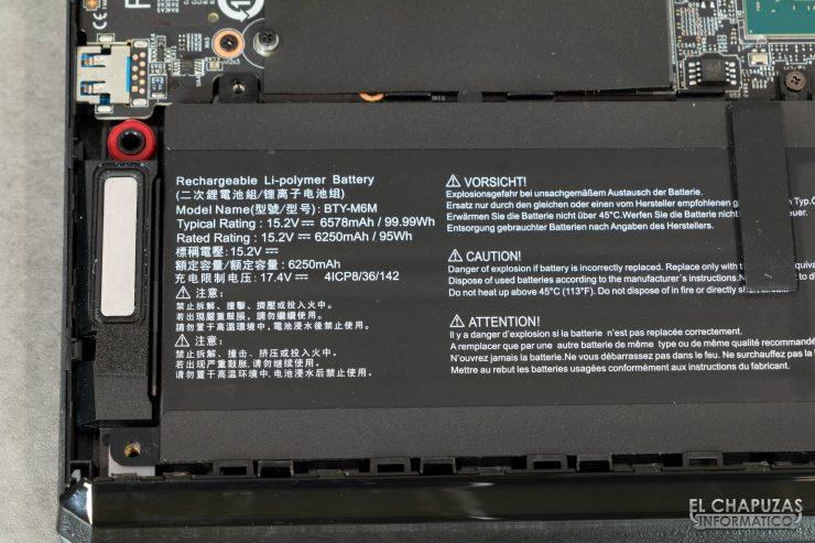 MSI GE66 Raider (10SGS) - Batería