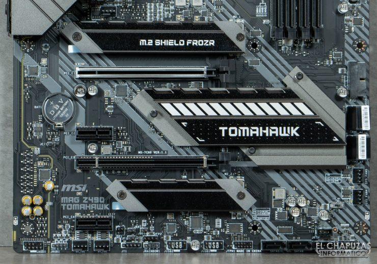 MSI MAG Z490 Tomahawk - Sección inferior