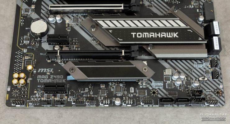 MSI MAG Z490 Tomahawk - Margen inferior
