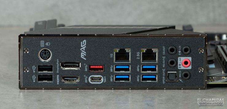 MSI MAG Z490 Tomahawk - Conectores traseros
