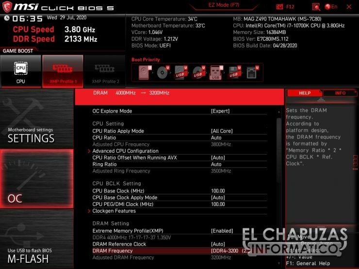 MSI MAG Z490 Tomahawk - BIOS