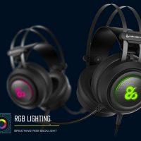 Newskill Drakain: Auriculares gaming con conector Jack de 3,5mm + USB para la iluminación RGB