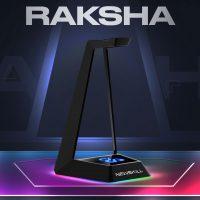 Newskill Raksha: Soporte para auriculares con iluminación RGB y tres puertos USB
