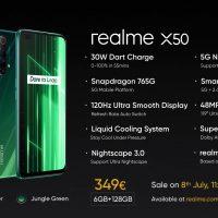 El Realme X50 5G (6.57″ @ 120 Hz con Snapdragon 765G) aterriza en Europa por 349 euros