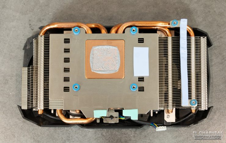Zotac GeForce RTX 2060 - Disipador desmontado