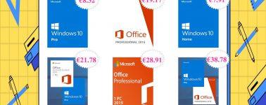 Tenemos exclusiva de Apple, y licencias de Windows 10 (8,32€) y Office en oferta, claro