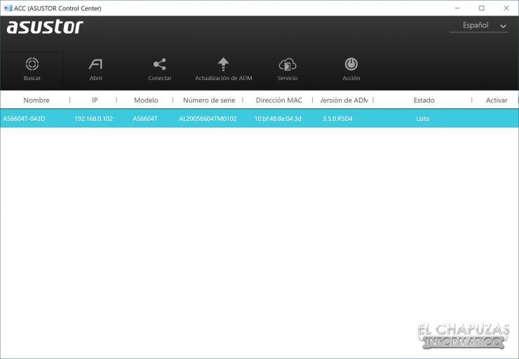 Asustor AS6604T - Software 1