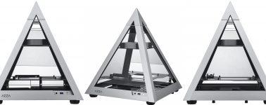 Azza Pyramid 806: Chasis Mini-ITX en forma de pirámide de aluminio con cuádruple ventana de vidrio