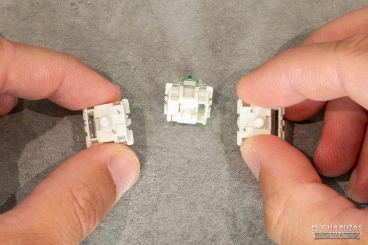 Kemove DK61 Snowfox - Interruptores Gateron sueltos