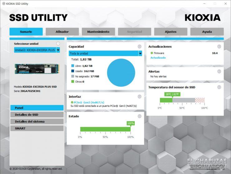 Kioxia Exceria Plus - Software