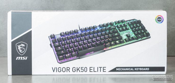MSI Vigor GK50 Elite - Embalaje