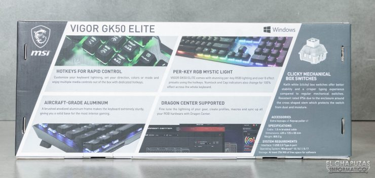 MSI Vigor GK50 Elite - Embalaje 2
