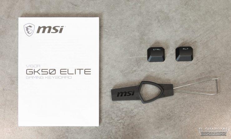 MSI Vigor GK50 Elite - Accesorios