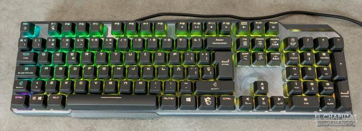 MSI Vigor GK50 Elite - Vista superior